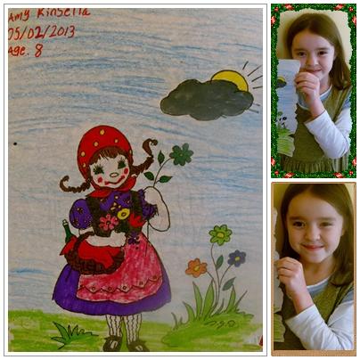 Amy 8 anos de idade. Ama colorir.