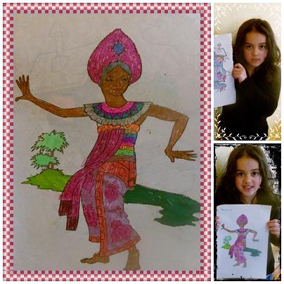 Naomi 6 anos de idade.Arte eh a sua materia favorita.