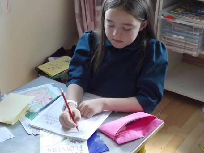 Este eh um relatorio de livro que ela faz toda semana. Depois que ela termina um livro ela faz um pequeno relatorio sobre o o que ela mais gostou naquele livro e por que.