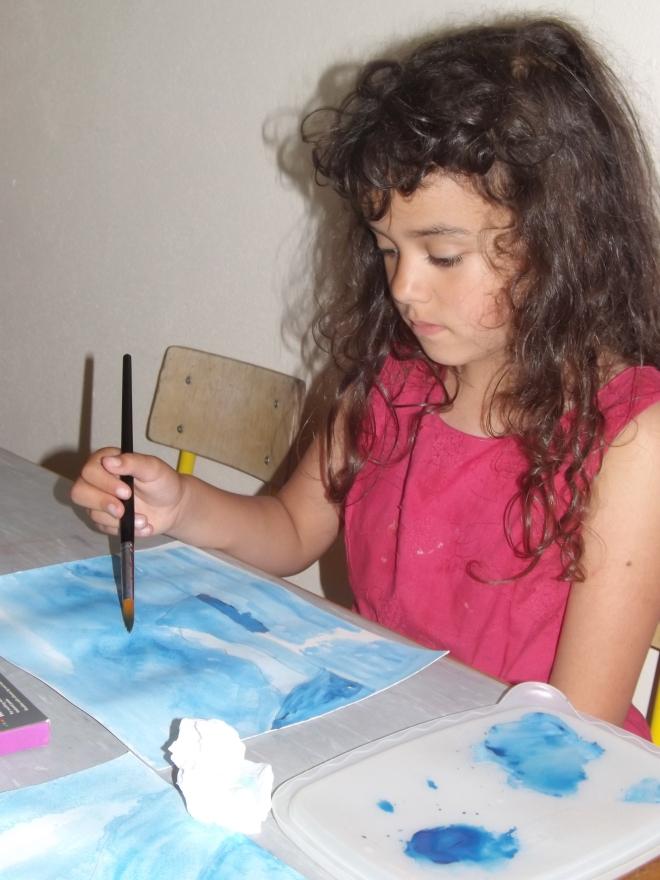 Sua primeira aula de verdade de pintura. Amou!